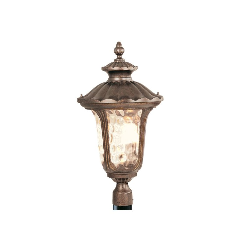 Livex Lighting 7664 Oxford 3 Light Outdoor Post Light Moroccan Gold