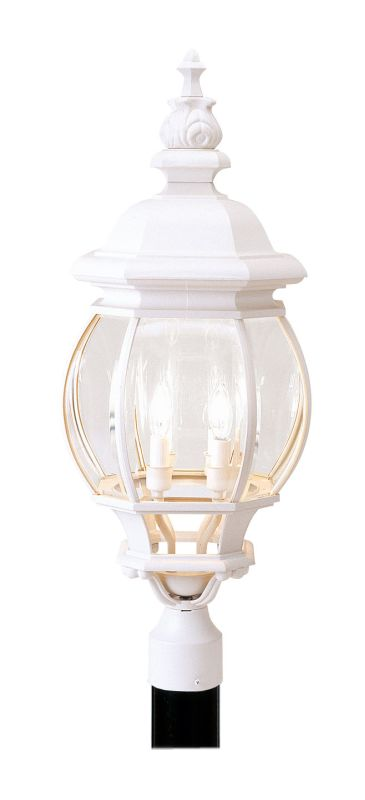 Livex Lighting 7703 Frontenac 4 Light Outdoor Post Light White Outdoor