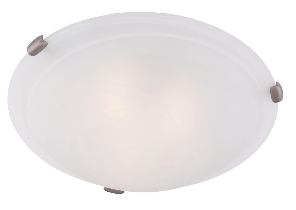 Livex Lighting 8012 Oasis 3 Light Flush Mount Ceiling Fixture Brushed