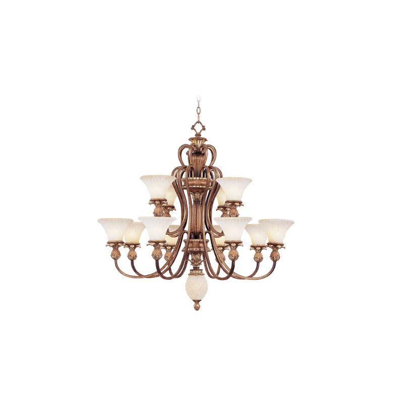 Livex Lighting 8428 Savannah 12 Light 2 Tier Chandelier Venetian
