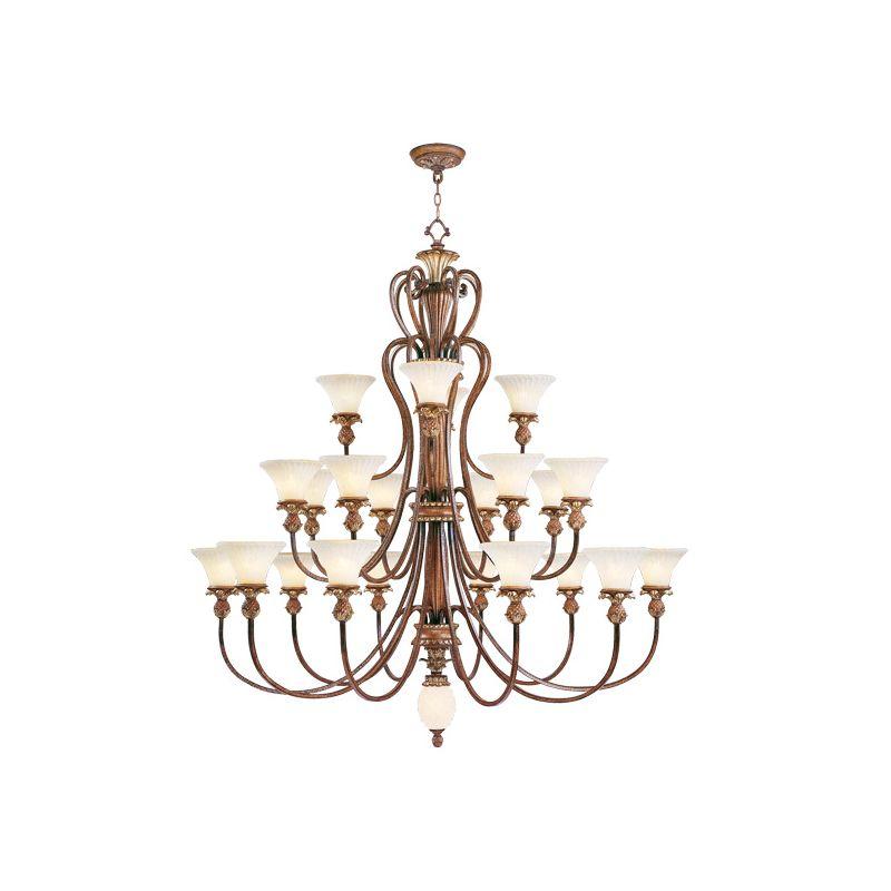 Livex Lighting 8429 Savannah 22 Light 3 Tier Chandelier Venetian
