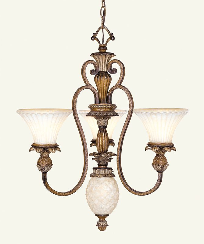 Livex Lighting 8453 Savannah 3 Light Single Tier Chandelier Venetian