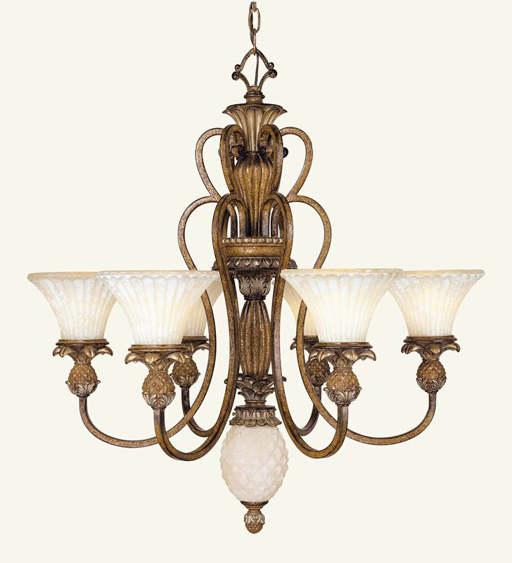 Livex Lighting 8456 Savannah 6 Light Single Tier Chandelier Venetian