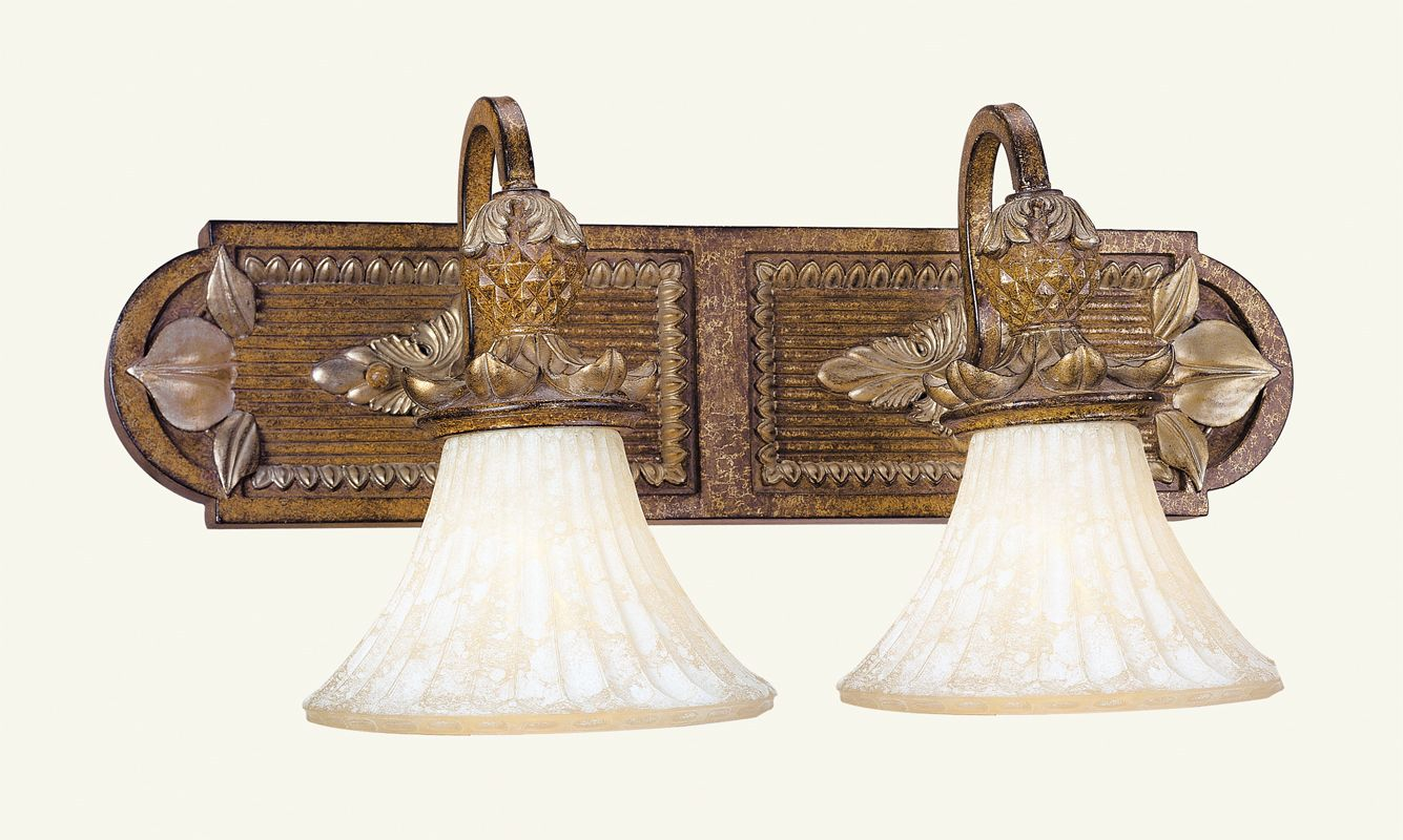 Livex Lighting 8462 Savannah 2 Light Bathroom Vanity Light Venetian
