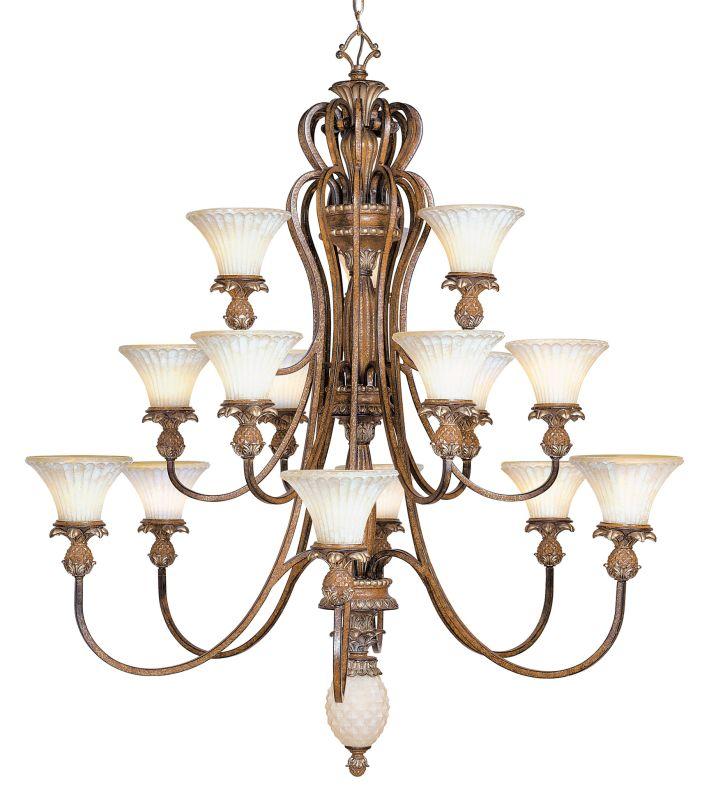 Livex Lighting 8469 Savannah 15 Light 3 Tier Chandelier Venetian