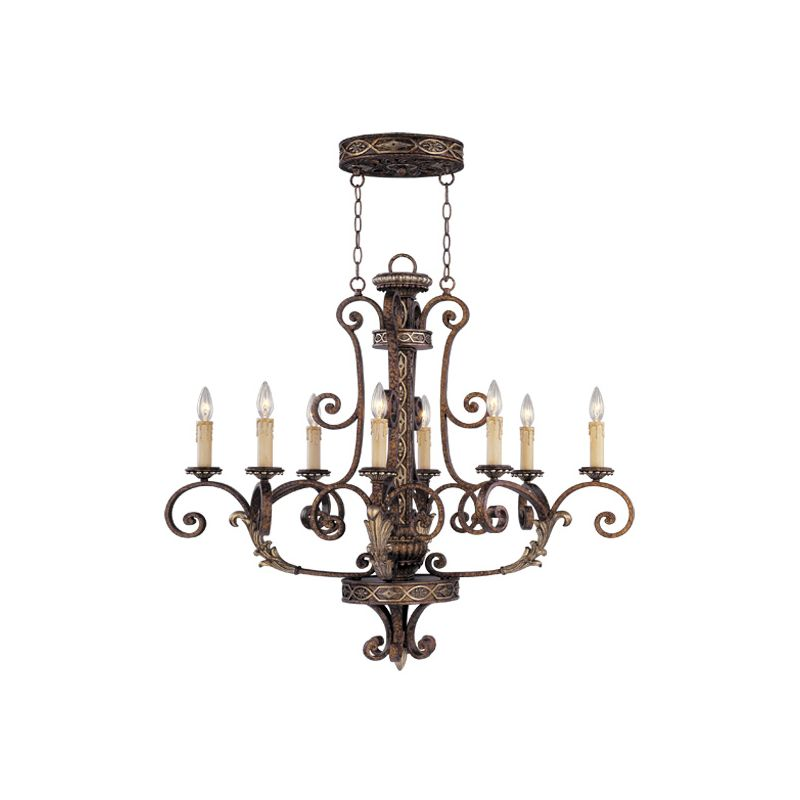 Livex Lighting 8538 Seville 8 Light 1 Tier Chandelier Palacial Bronze