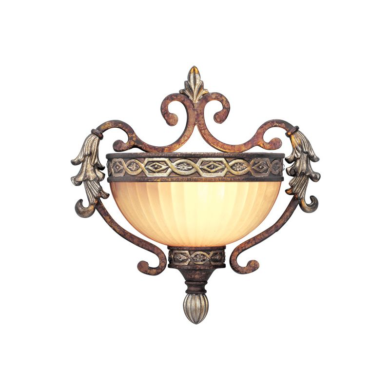Livex Lighting 8540 Seville 1 Light Wall Sconce Palacial Bronze with Sale $199.90 ITEM: bci1035025 ID#:8540-64 UPC: 847284013827 :