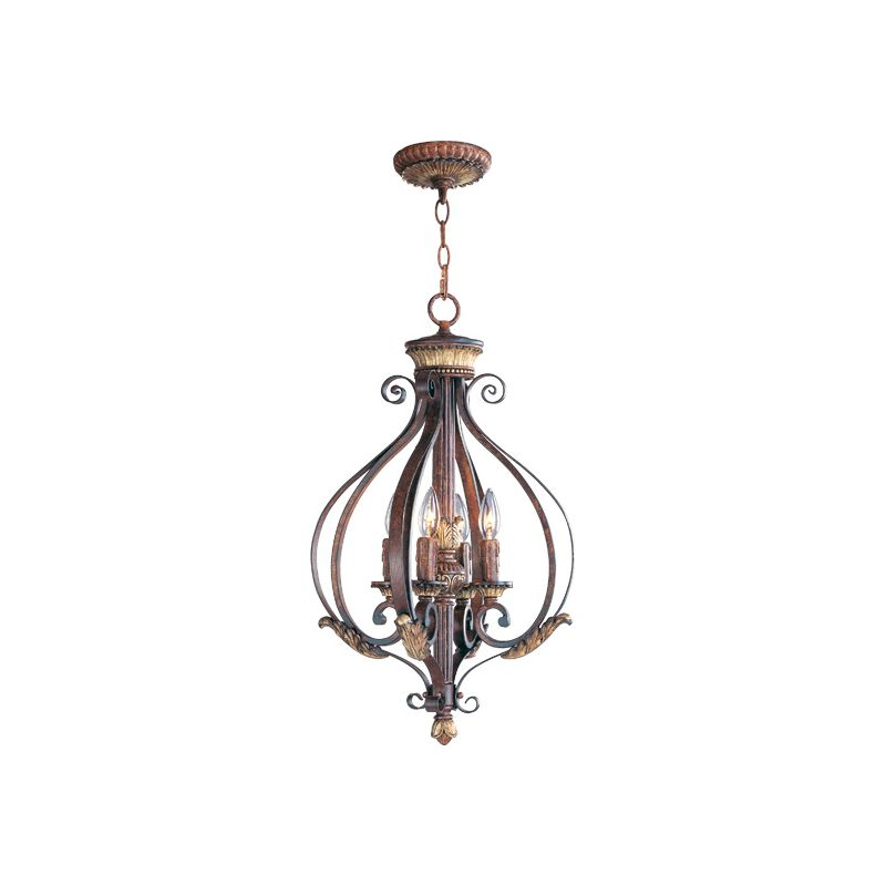 Livex Lighting 8556 Villa Verona 4 Light Pendant Verona Bronze Indoor