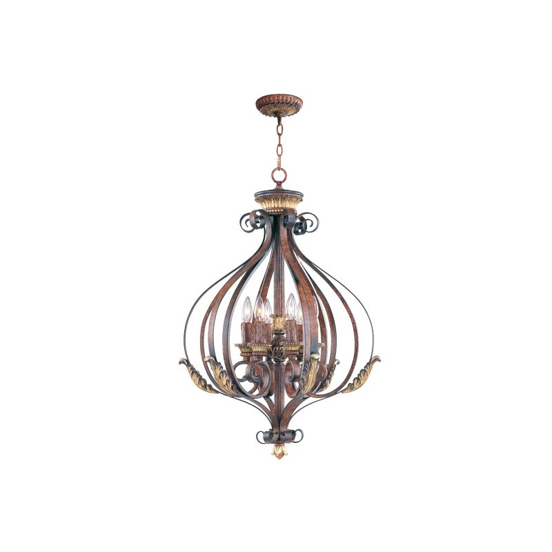 Livex Lighting 8557 Villa Verona 6 Light Pendant Verona Bronze Indoor