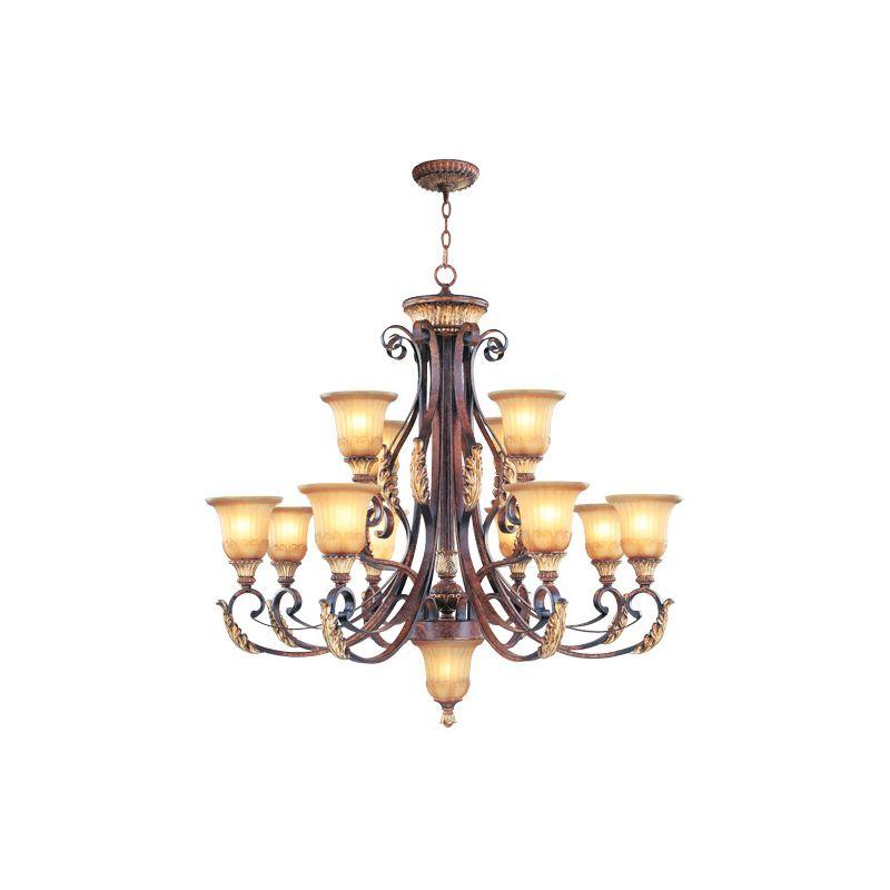 Livex Lighting 8559 Villa Verona 12 Light 2 Tier Chandelier Verona