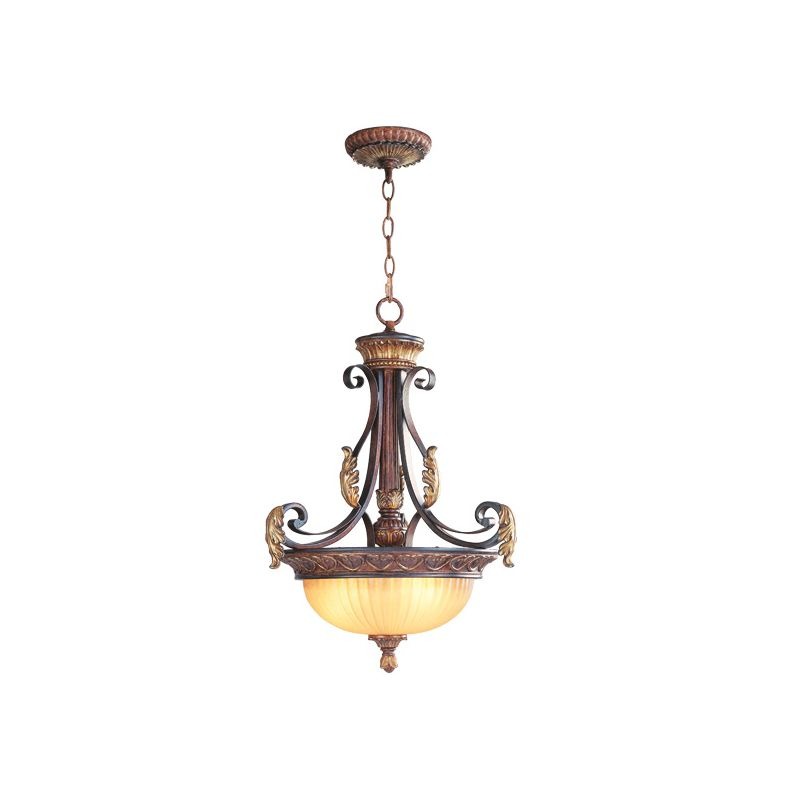 Livex Lighting 8567 Villa Verona 3 Light Pendant Verona Bronze Indoor