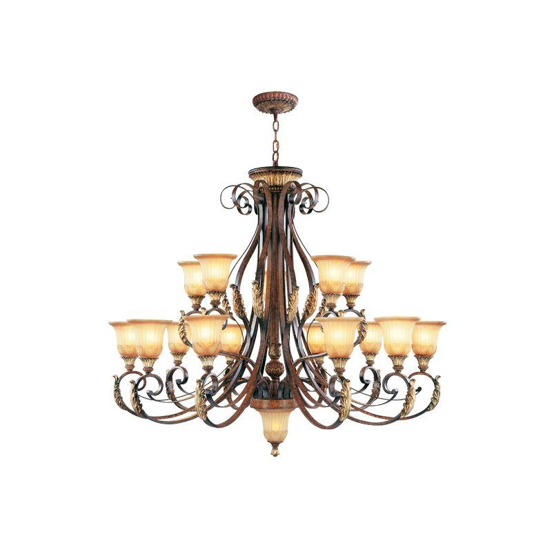 Livex Lighting 8568 Villa Verona 15 Light 2 Tier Chandelier Verona