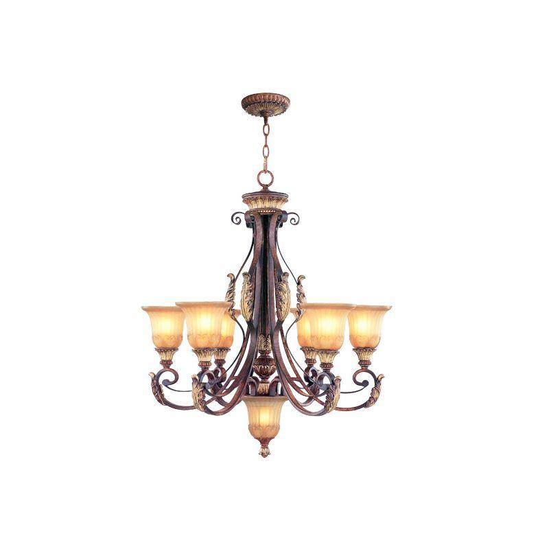 Livex Lighting 8576 Villa Verona 6 Light Single Tier Chandelier Verona