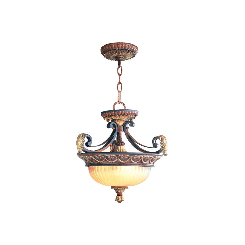 Livex Lighting 8577 Villa Verona 2 Light Pendant Verona Bronze Indoor