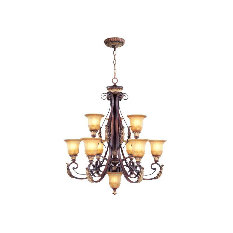 Livex Lighting 8579 Villa Verona 9 Light 2 Tier Chandelier Verona