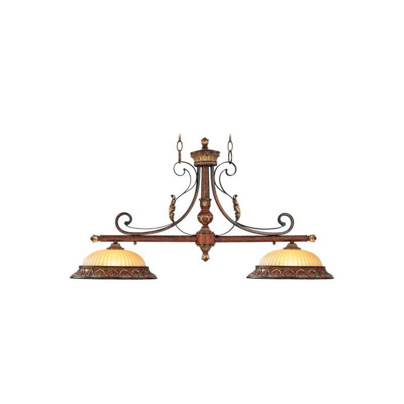 Livex Lighting 8582 Villa Verona 2 Light 1 Tier Linear Chandelier Sale $599.90 ITEM: bci1035061 ID#:8582-63 UPC: 847284021990 :