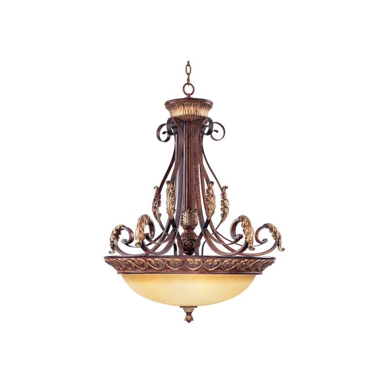 Livex Lighting 8587 Villa Verona 4 Light Pendant Verona Bronze Indoor