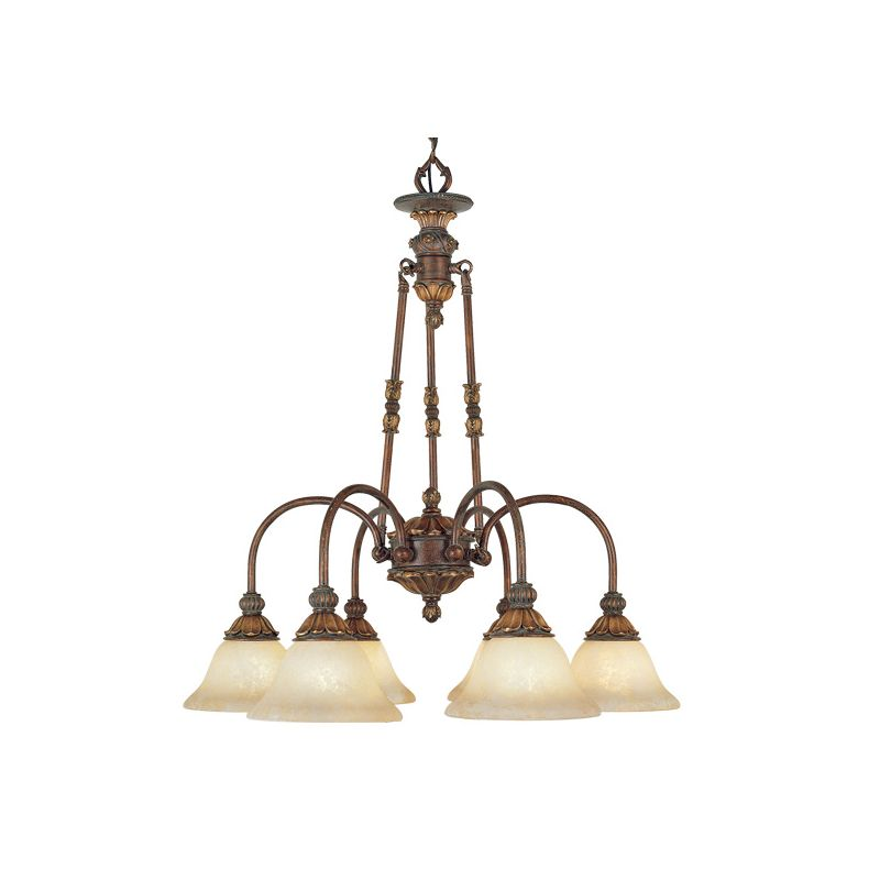 Livex Lighting 8605 Sovereign 6 Light 1 Tier Chandelier Crackled Greek