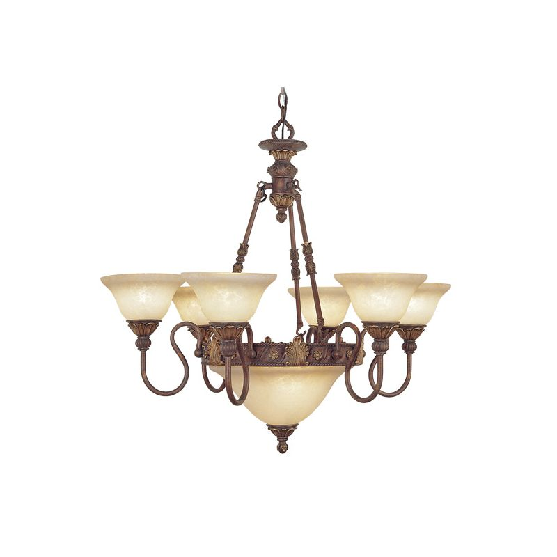 Livex Lighting 8606 Sovereign 8 Light Single Tier Chandelier Crackled