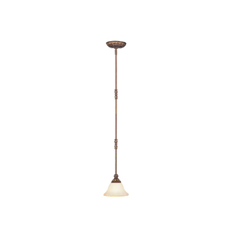 Livex Lighting 8610 Sovereign 1 Light Pendant Crackled Greek Bronze