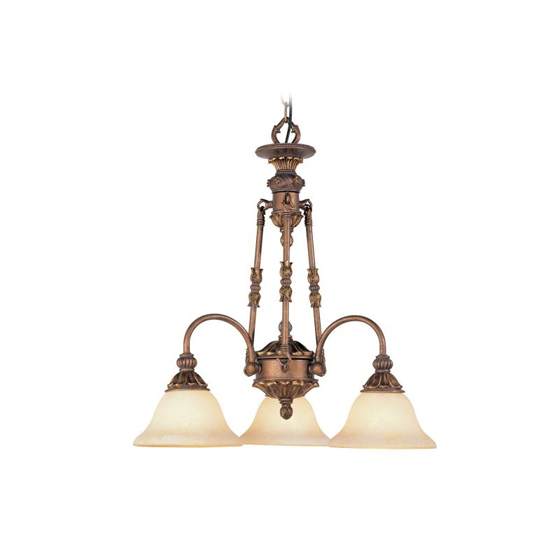 Livex Lighting 8614 Sovereign 3 Light 1 Tier Chandelier Crackled Greek
