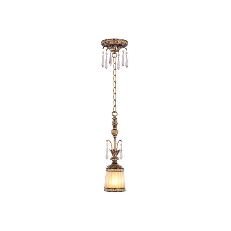 Livex Lighting 8800 La Bella 1 Light Pendant Vintage Gold Leaf Indoor