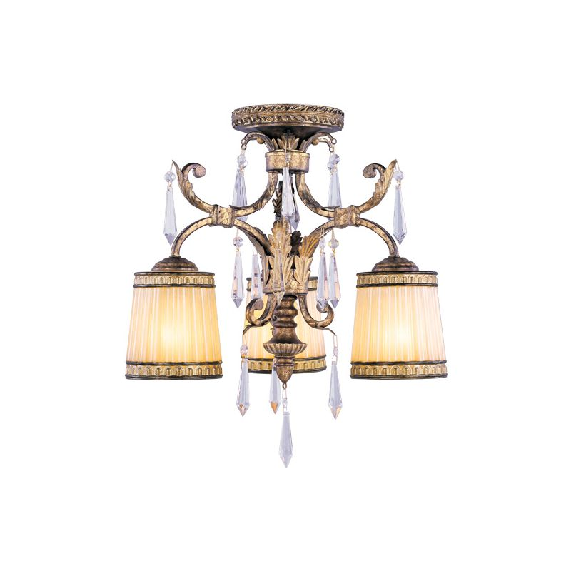 Livex Lighting 8804 La Bella 3 Light Semi-Flush Ceiling Fixture
