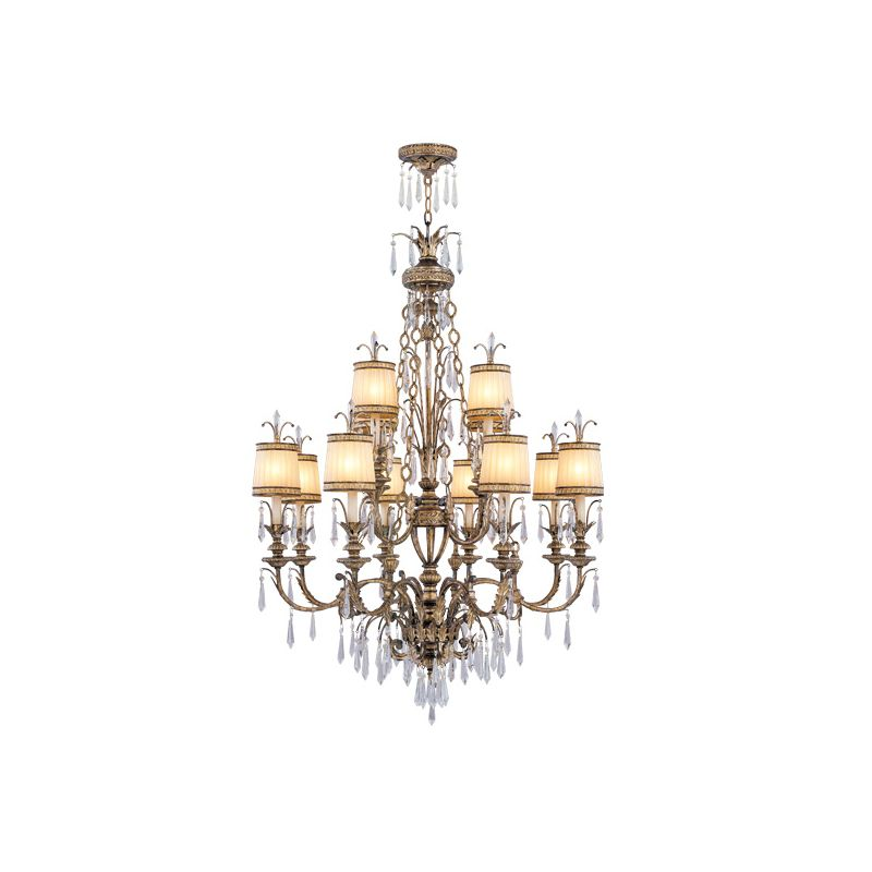 Livex Lighting 8809 La Bella 12 Light 2 Tier Chandelier with Crystal Sale $5499.90 ITEM: bci1035092 ID#:8809-65 :