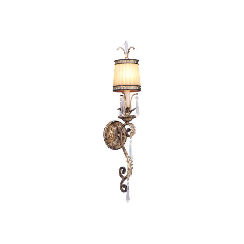 Livex Lighting 8811 La Bella 1 Light Wall Sconce Vintage Gold Leaf