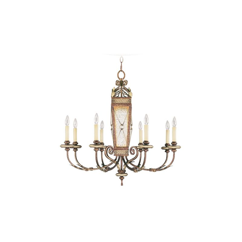 Livex Lighting 8878 Bristol Manor 8 Light 1 Tier Chandelier Palacial