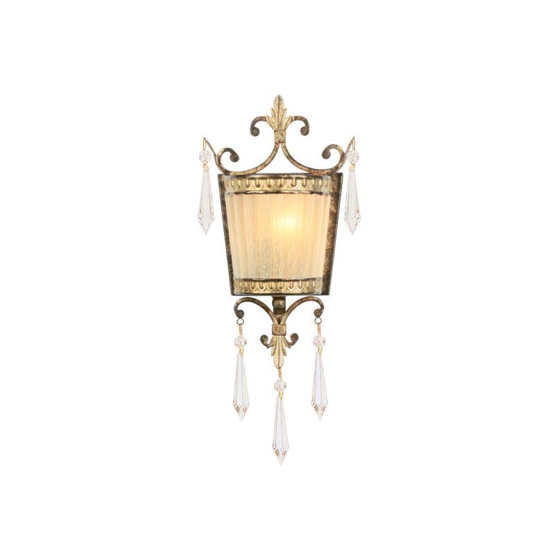 Livex Lighting 8880 La Bella 1 Light Wall Sconce Vintage Gold Leaf