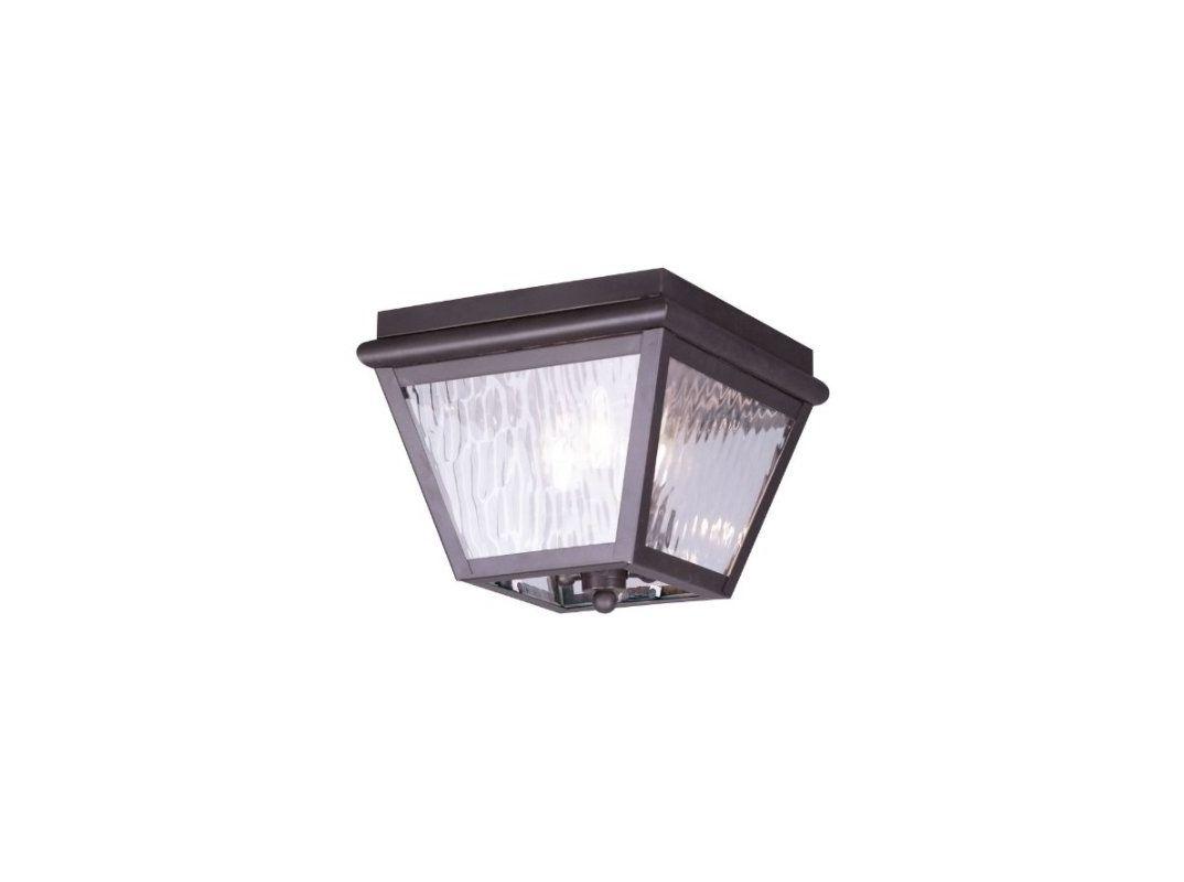 Livex Lighting 2029-07 Cambridge 3 Light Outdoor Flushmount Ceiling