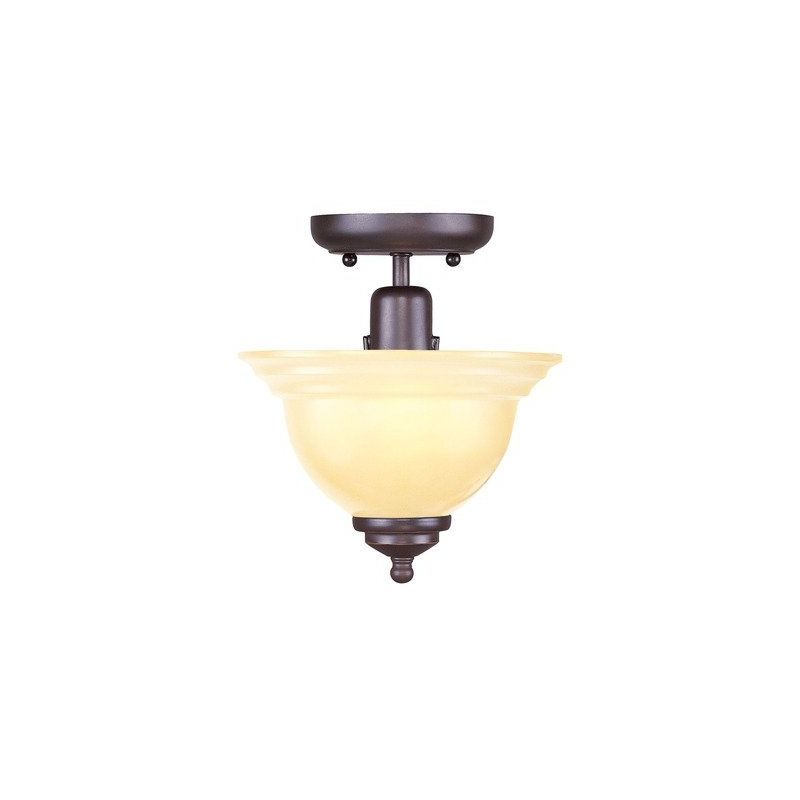 Livex Lighting 4250-67 North Port 1 Light Semi-Flush Ceiling Fixture