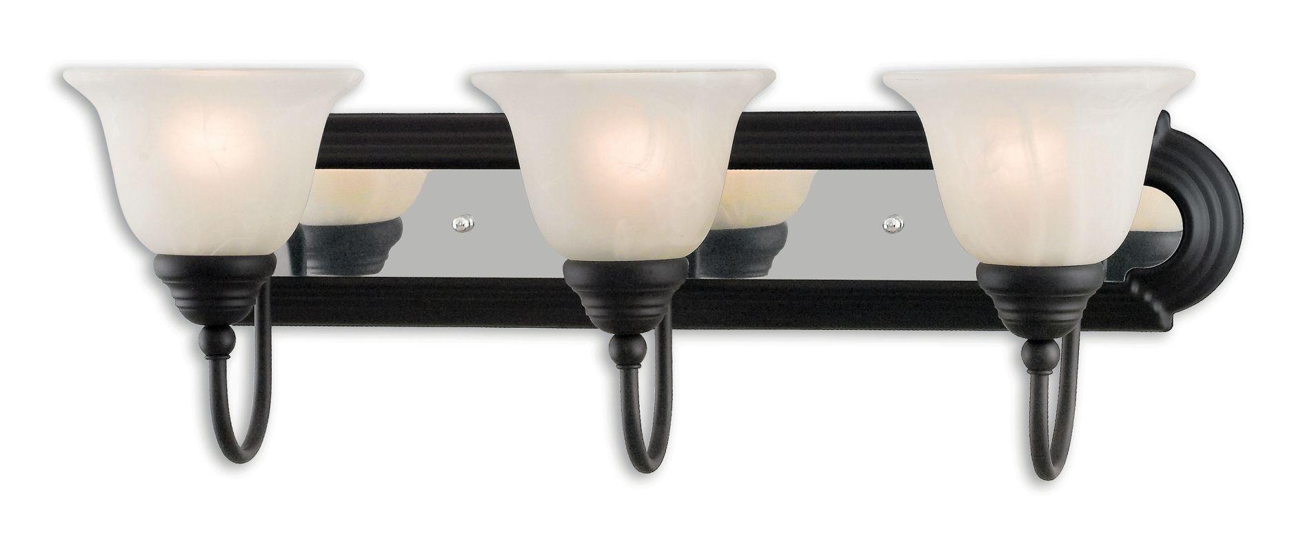 Livex Lighting 1003 Belmont 3 Light Vanity Light Bronze / Chrome