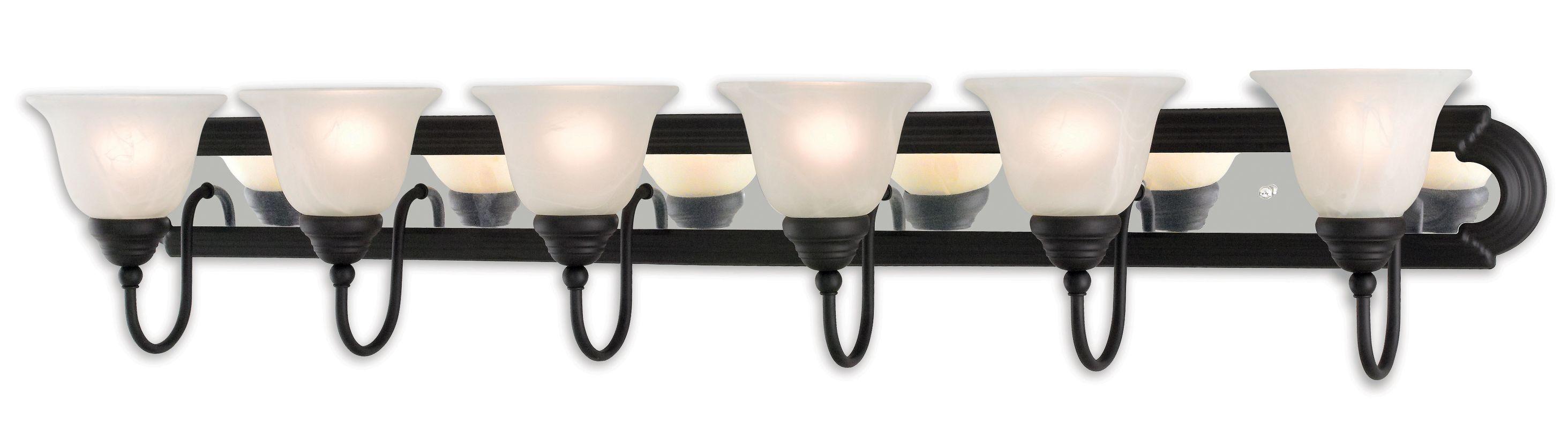 Livex Lighting 1006 Belmont 6 Light Vanity Light Bronze / Chrome