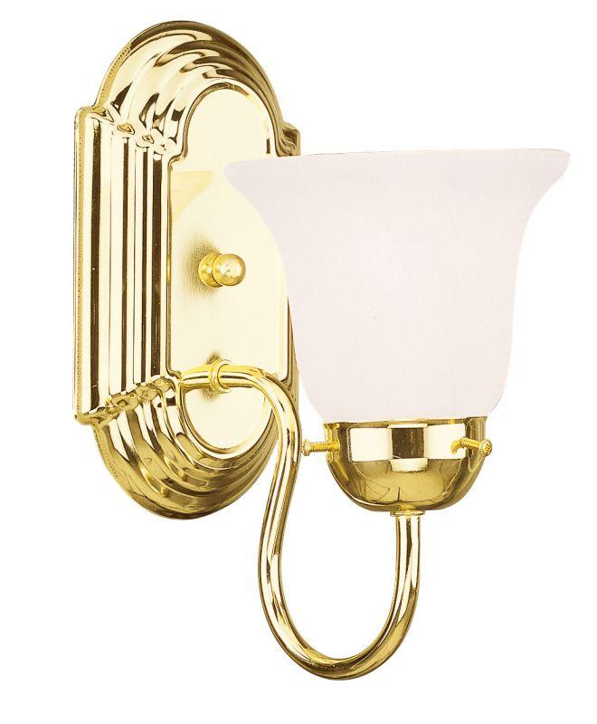 Livex Lighting 1071P Riviera 1 Light Bathroom Sconce Polished Brass
