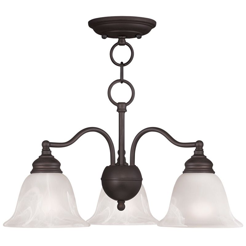 Livex Lighting 1343 Essex 3 Light 1 Tier Chandelier Bronze Indoor