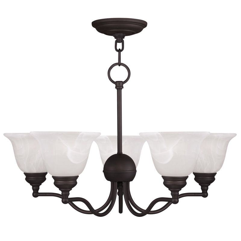 Livex Lighting 1345 Essex 5 Light 1 Tier Chandelier Bronze Indoor