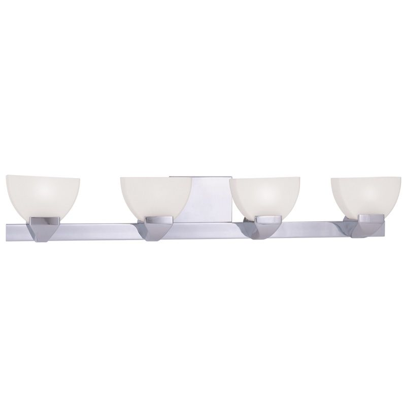 Livex Lighting 1364 Gemini 4 Light Bathroom Vanity Light Chrome Indoor