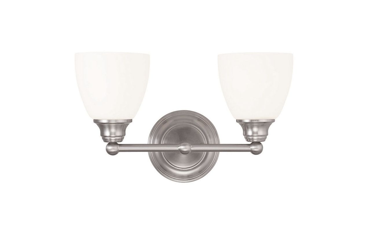 Livex Lighting 13662 Somerville 2 Light Bathroom Vanity Light Brushed
