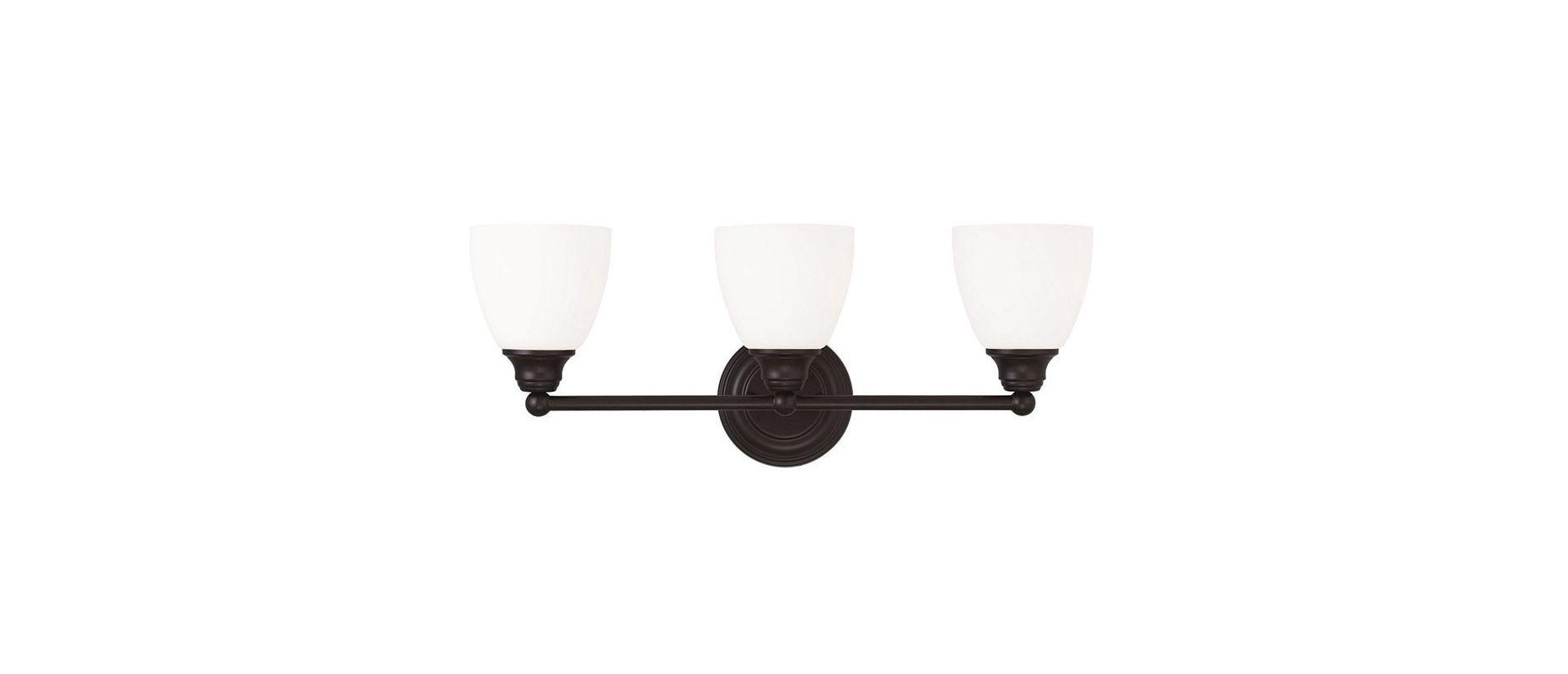 Livex Lighting 13663 Somerville 3 Light Bathroom Vanity Light Bronze