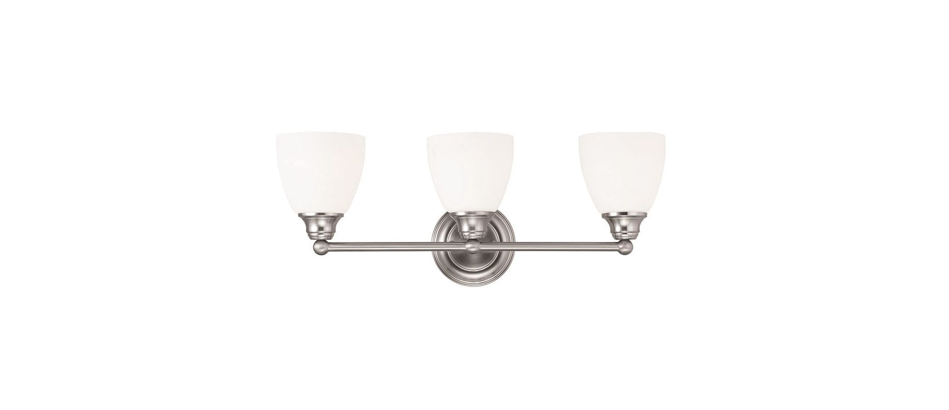 Livex Lighting 13663 Somerville 3 Light Bathroom Vanity Light Brushed