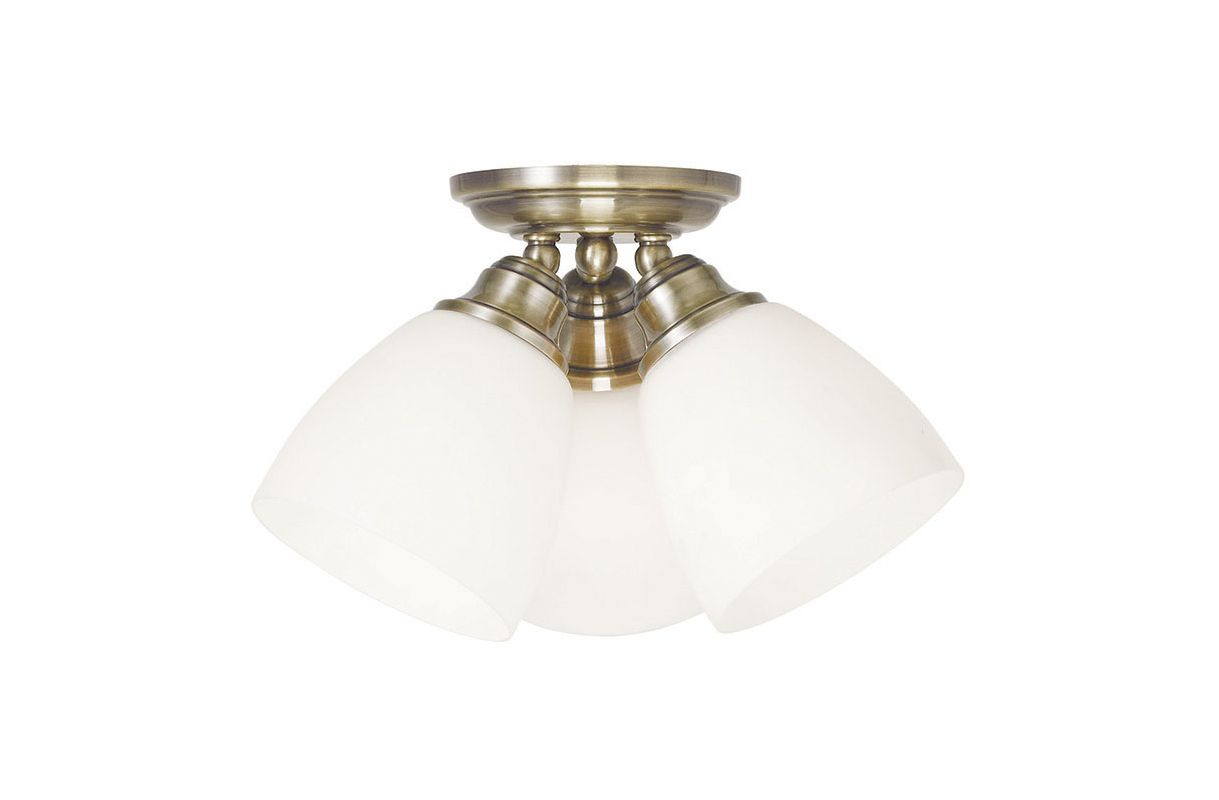 Livex Lighting 13664 Somerville 3 Light Flush Mount Ceiling Fixture Sale $89.90 ITEM: bci2545393 ID#:13664-01 UPC: 847284043534 :