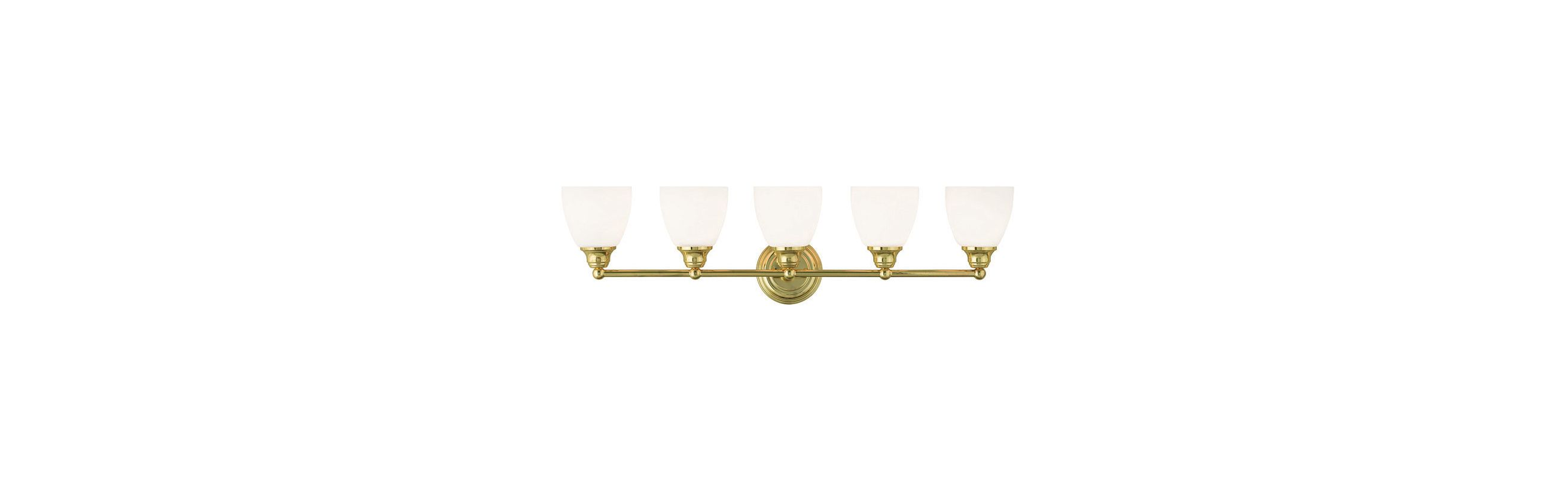 Livex Lighting 13665 Somerville 5 Light Bathroom Vanity Light Polished