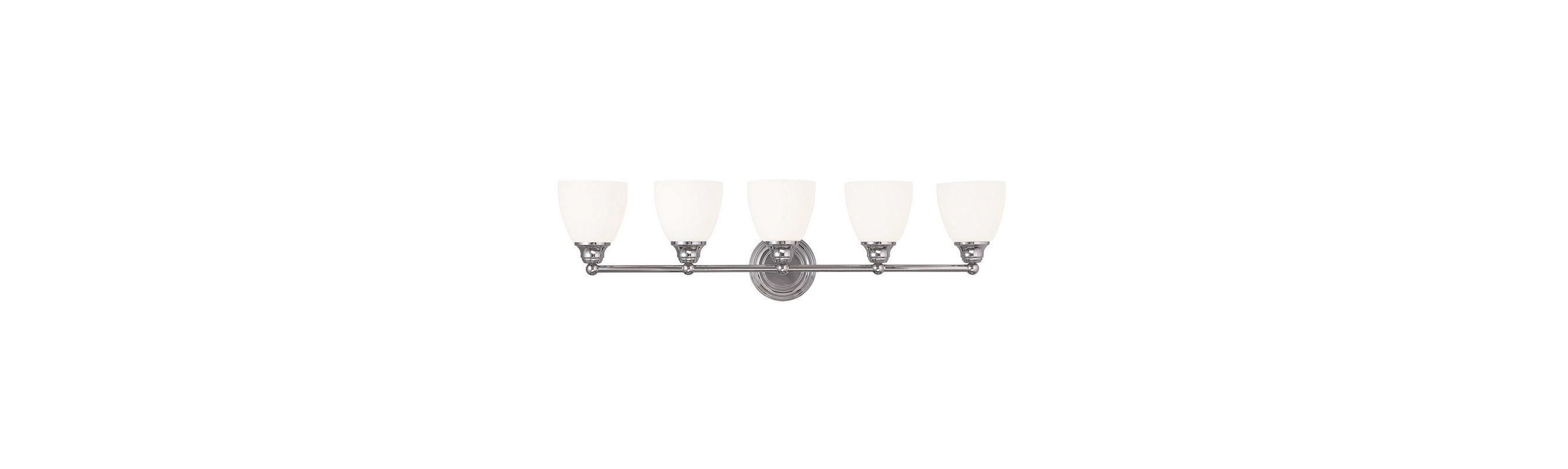 Livex Lighting 13665 Somerville 5 Light Bathroom Vanity Light Chrome