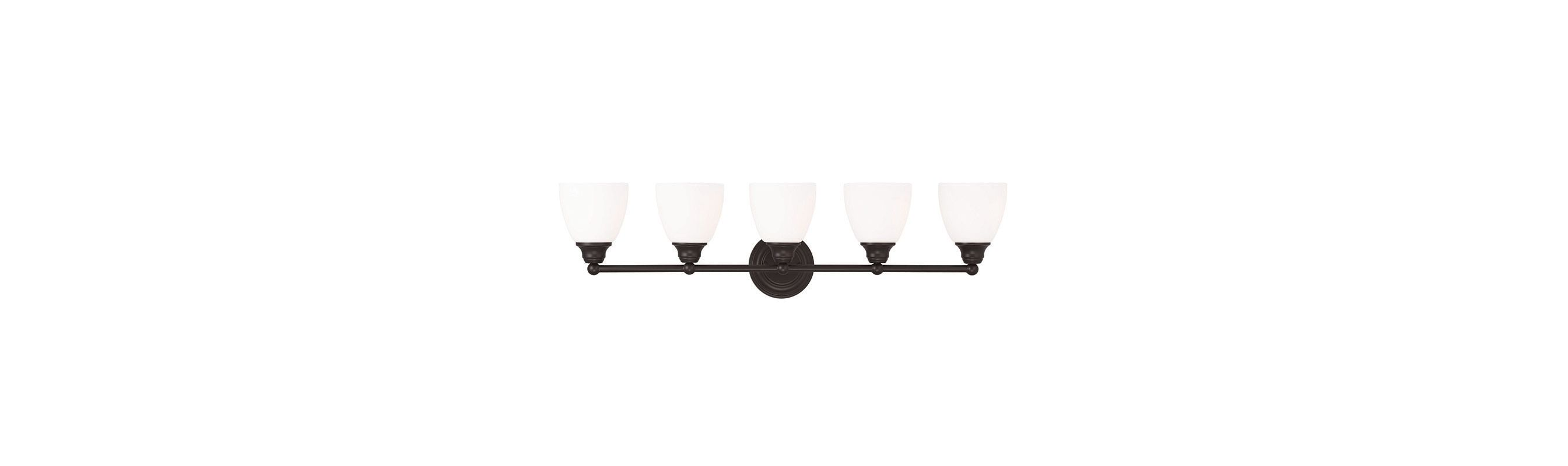 Livex Lighting 13665 Somerville 5 Light Bathroom Vanity Light Bronze