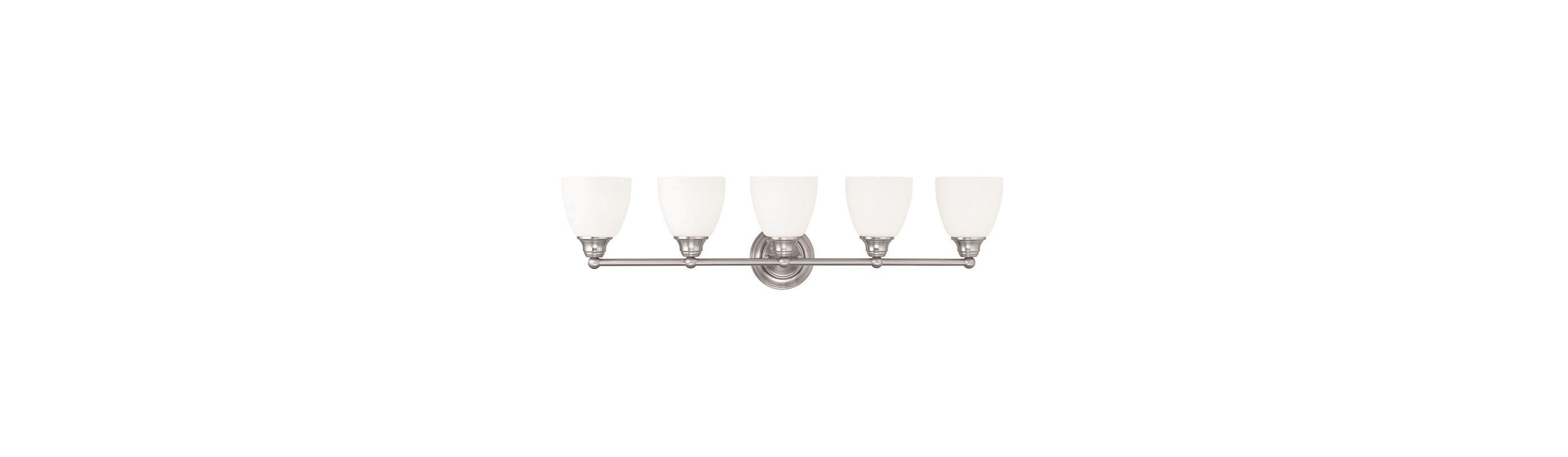 Livex Lighting 13665 Somerville 5 Light Bathroom Vanity Light Brushed