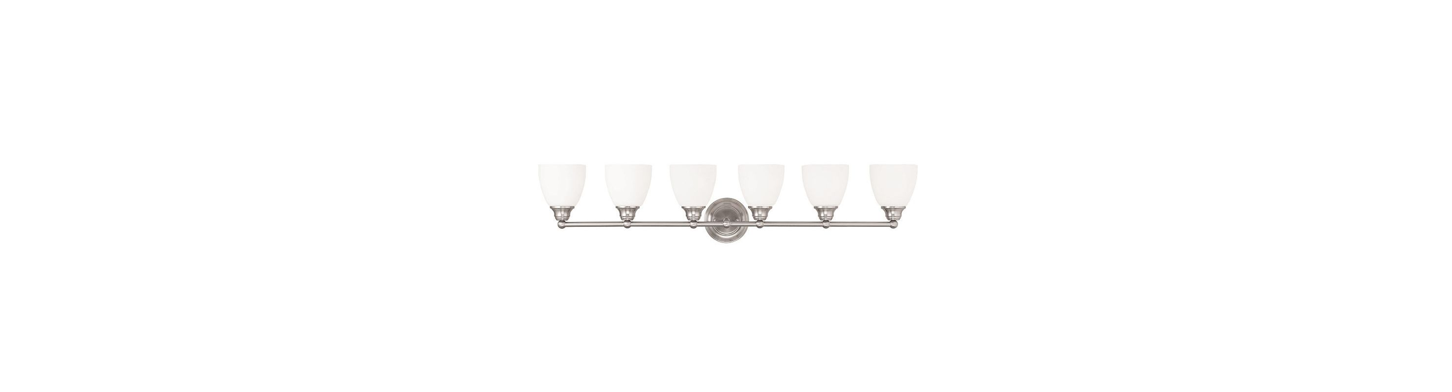 Livex Lighting 13666 Somerville 6 Light Bathroom Vanity Light Brushed