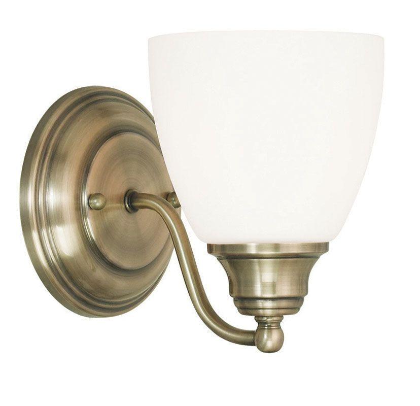 Livex Lighting 13671 Somerville 1 Light Wall Sconce Antique Brass