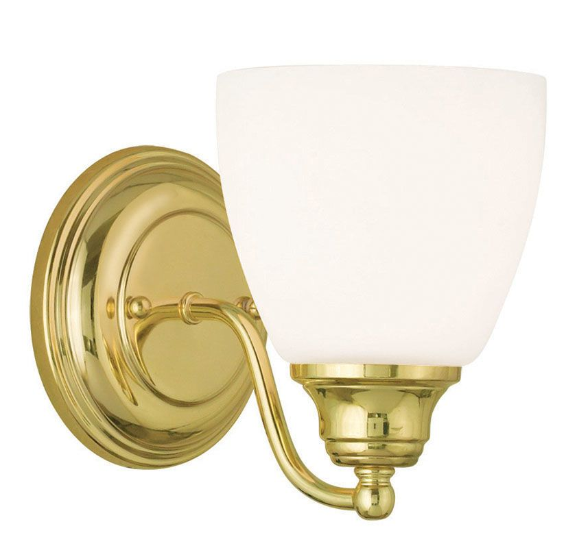 Livex Lighting 13671 Somerville 1 Light Wall Sconce Polished Brass